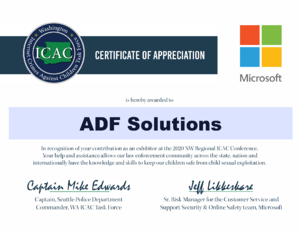 ADF Solutions ICAC Task Force - Washington ICAC Seattle Internet Crimes Against Children