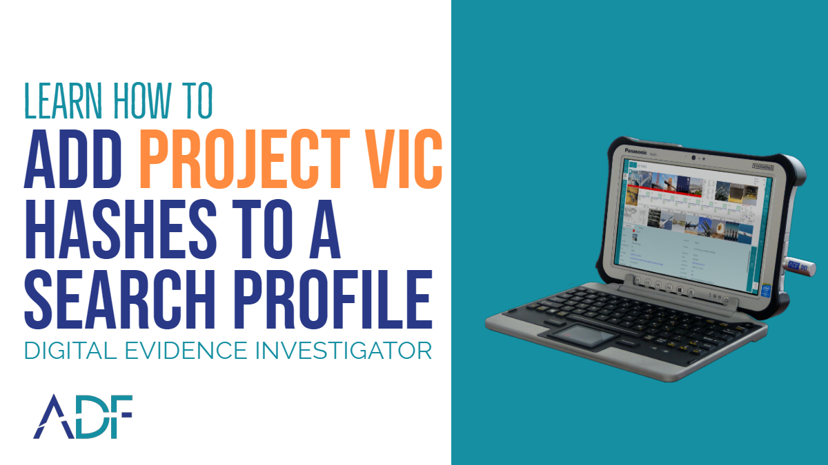 Add Project VIC Hashes to a Search Profile
