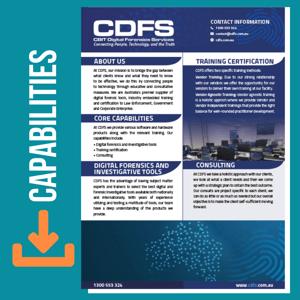 CDFS CAPABILITIES