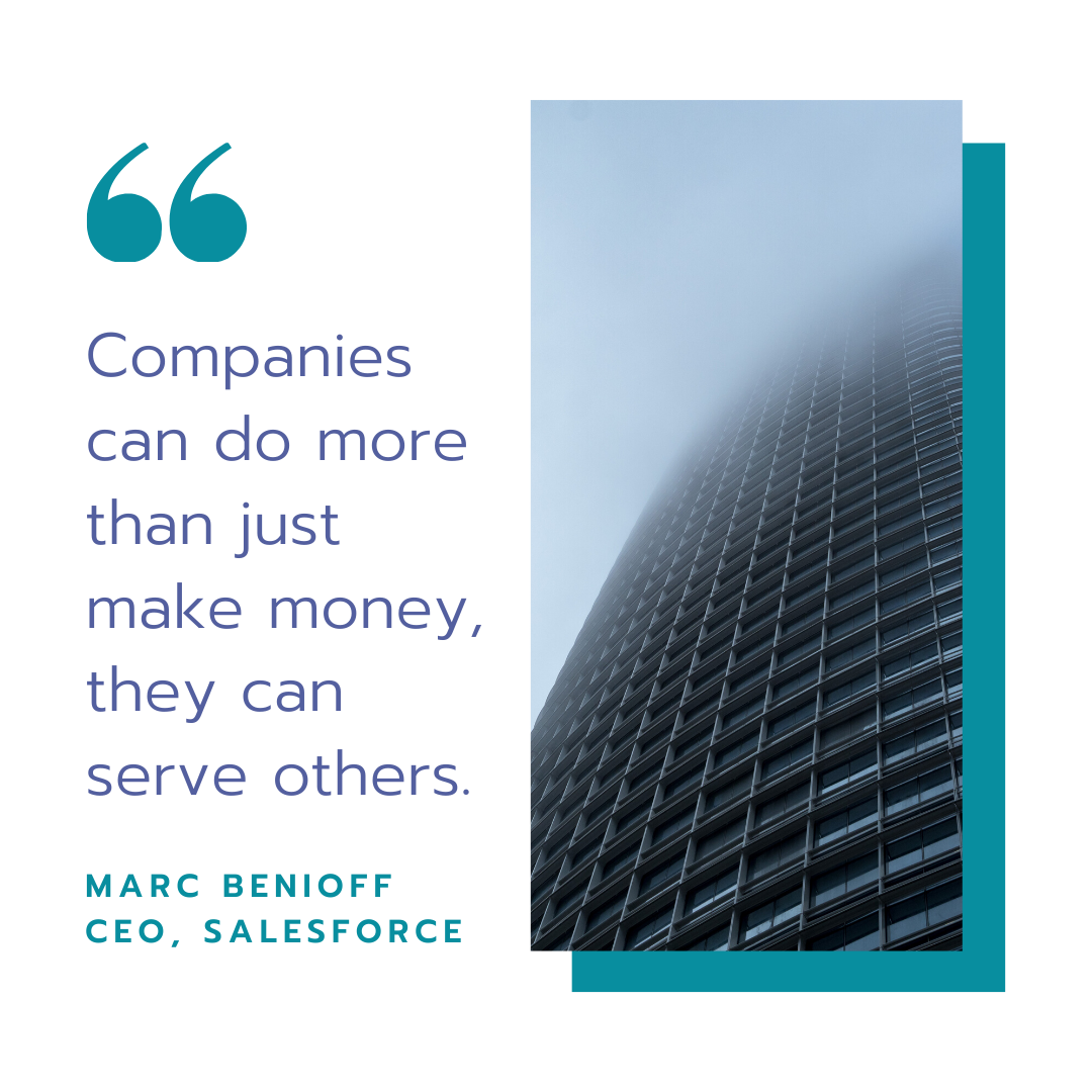 Companies can do more than just make money, they can serve others.