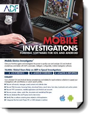 Mobile Device Investigator - Key Features