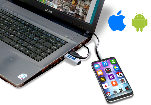 Mobile Device Investigator Scanning Smartphone