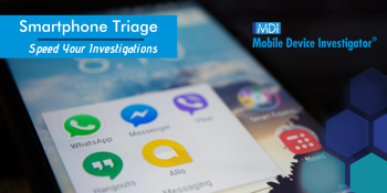 Smartphone Triage of a mobile device using Mobile Device Investigator