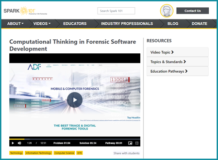 Spark101 STEM Video - ADF Solutions Digital Forensic Careers in the United States