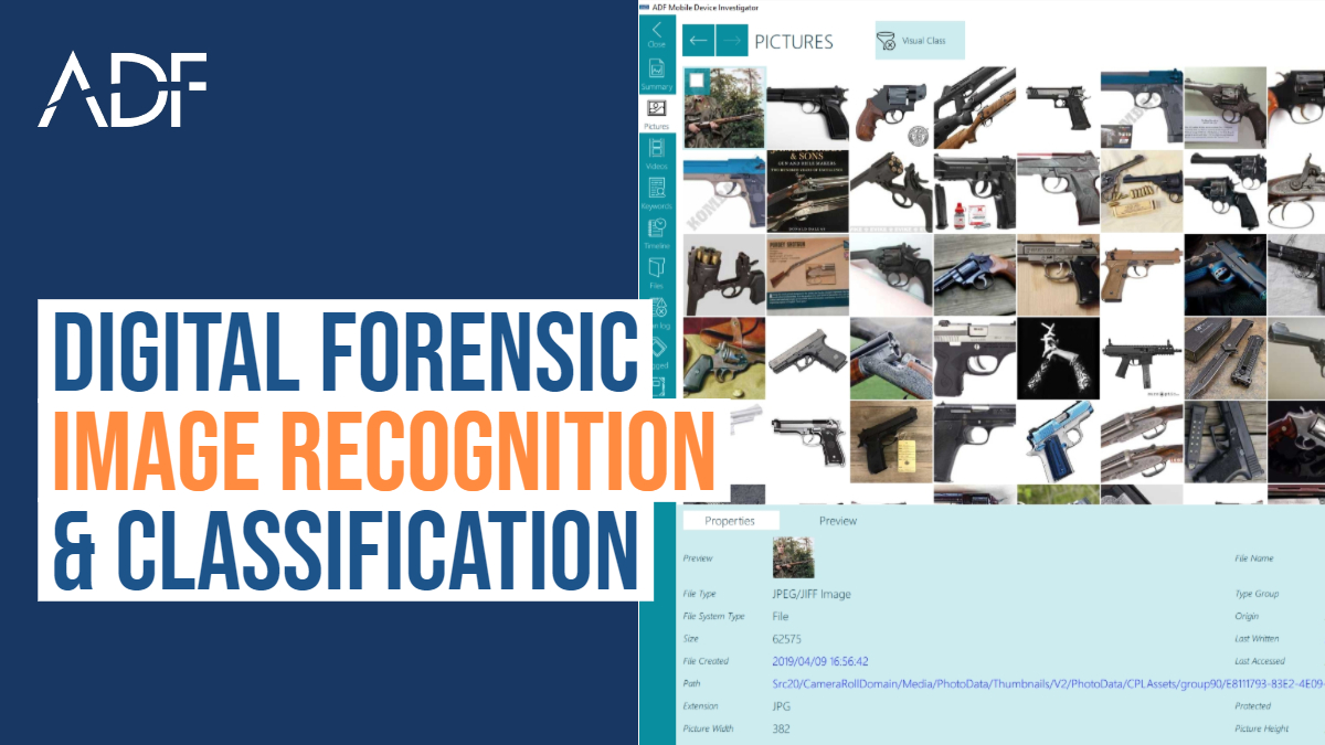 ADF Digital Forensic Image Recognition and Classification