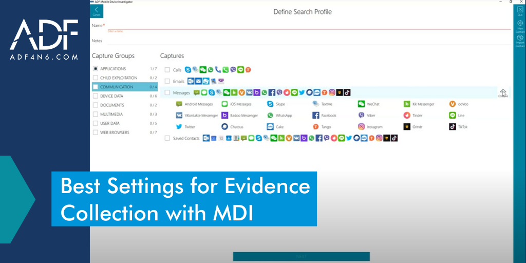 Best Mobile Device Investigator Settings for Evidence Collection