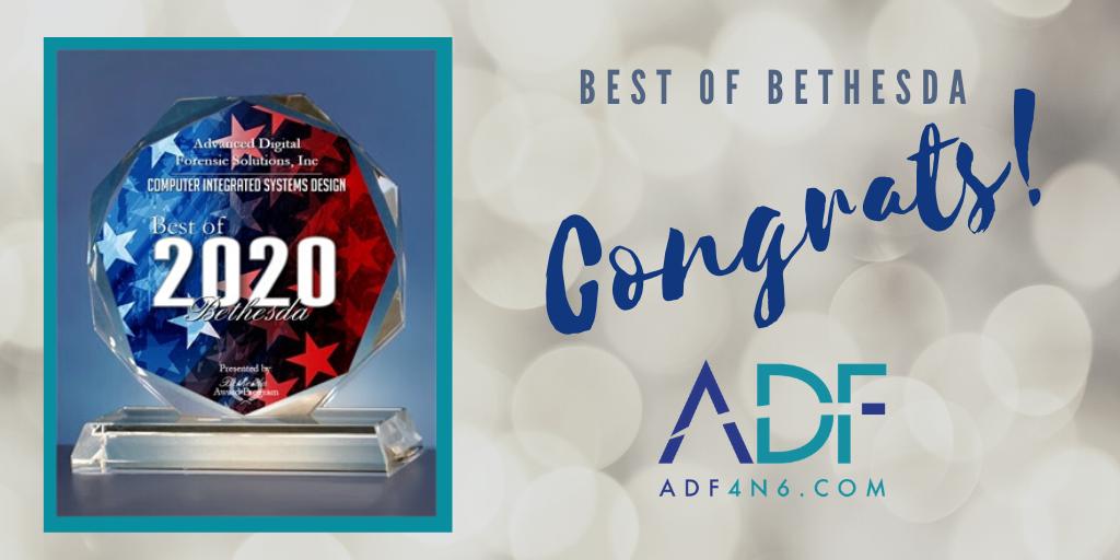 ADF Receives 2020 Best of Bethesda Award