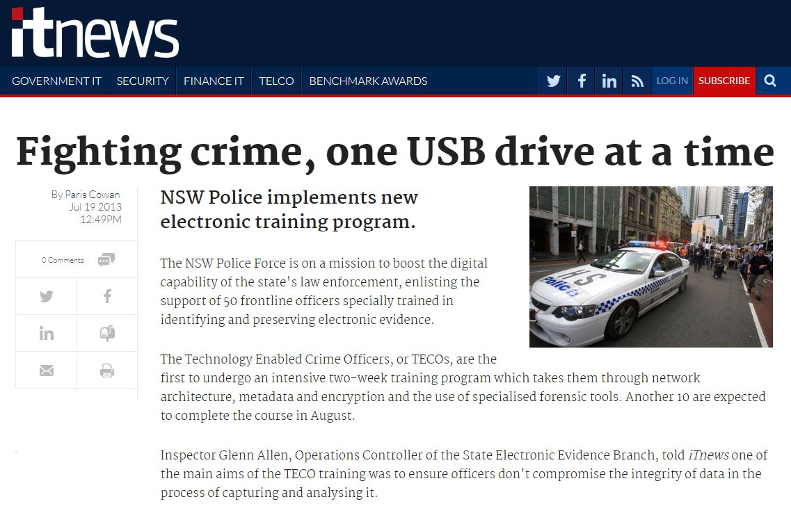 Fighting Crime, One USB Drive at a Time