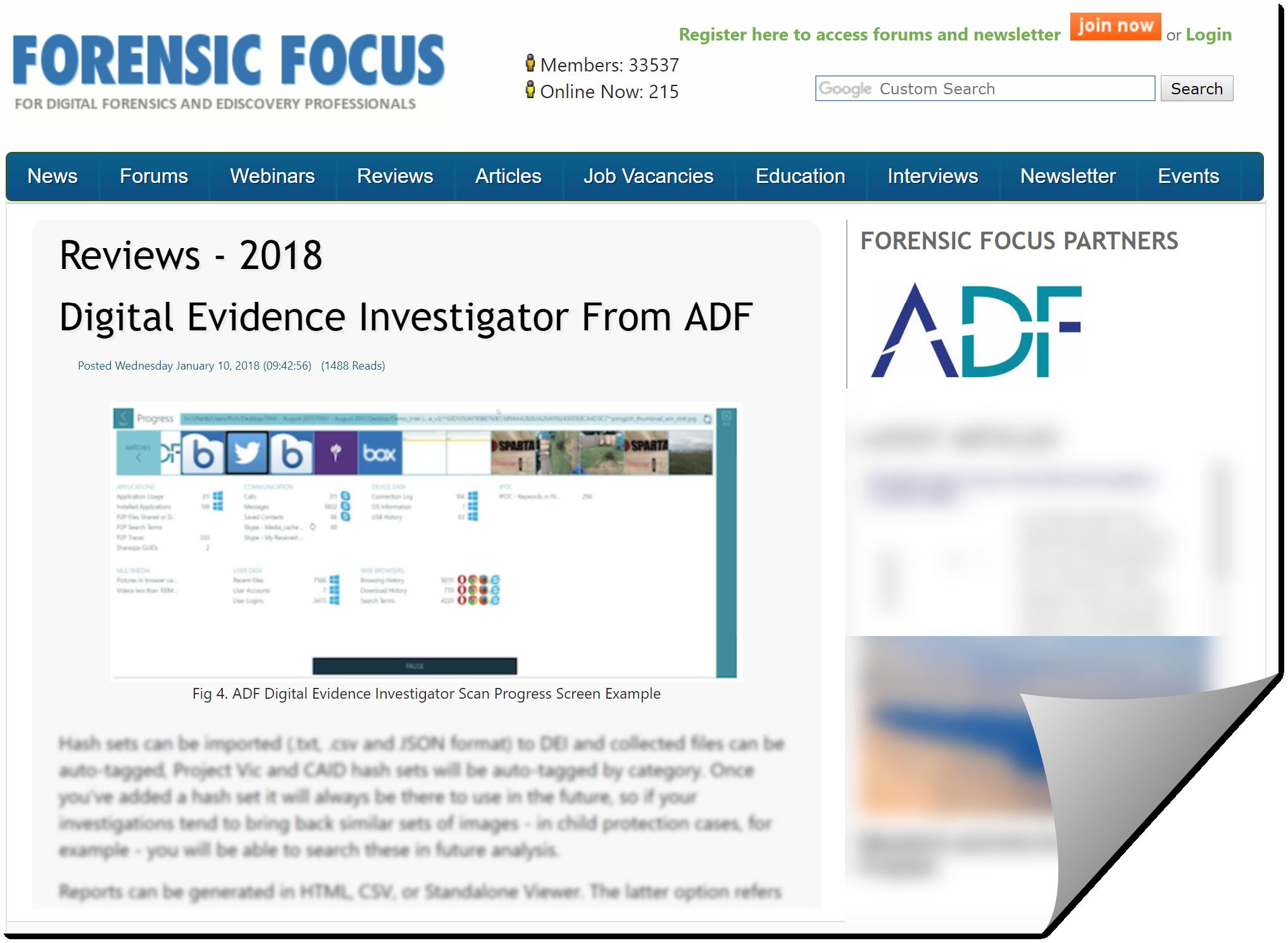 Forensic Focus Reviews Digital Evidence Investigator