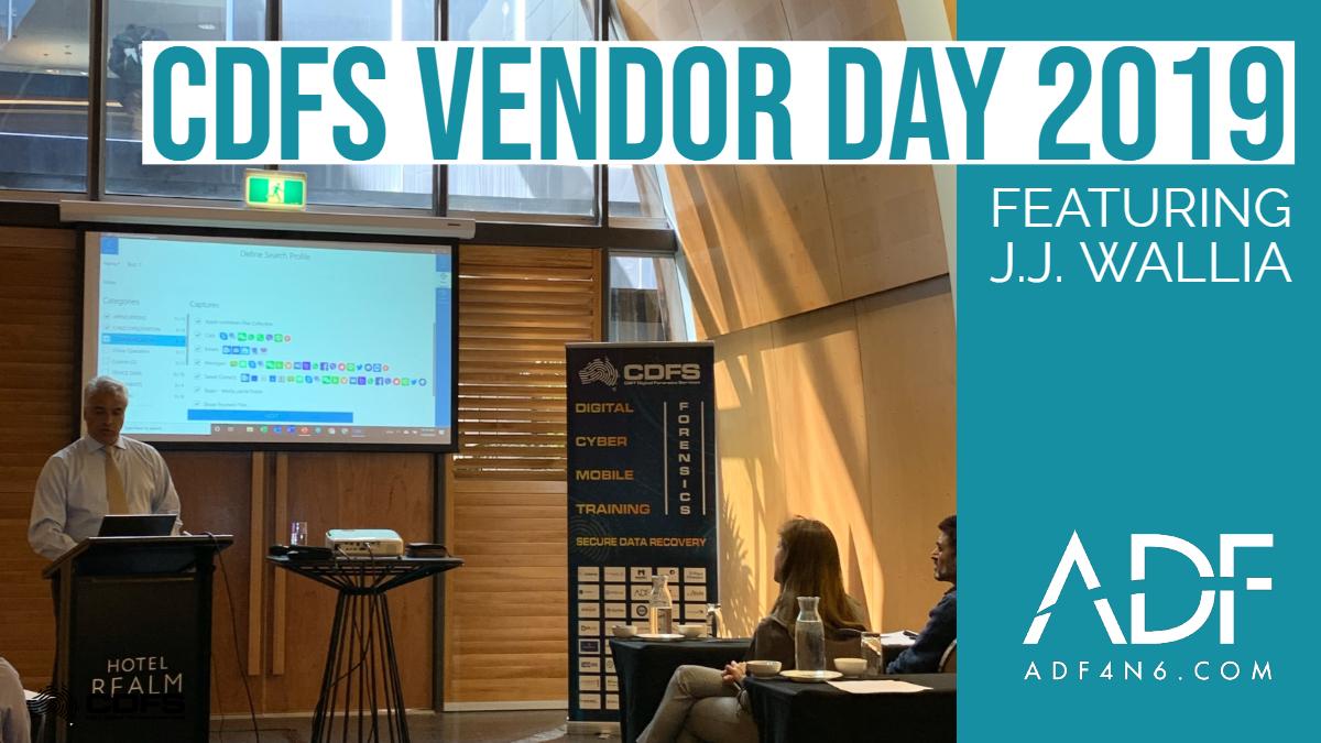 CDFS Vendor Day 2019 (Australia)