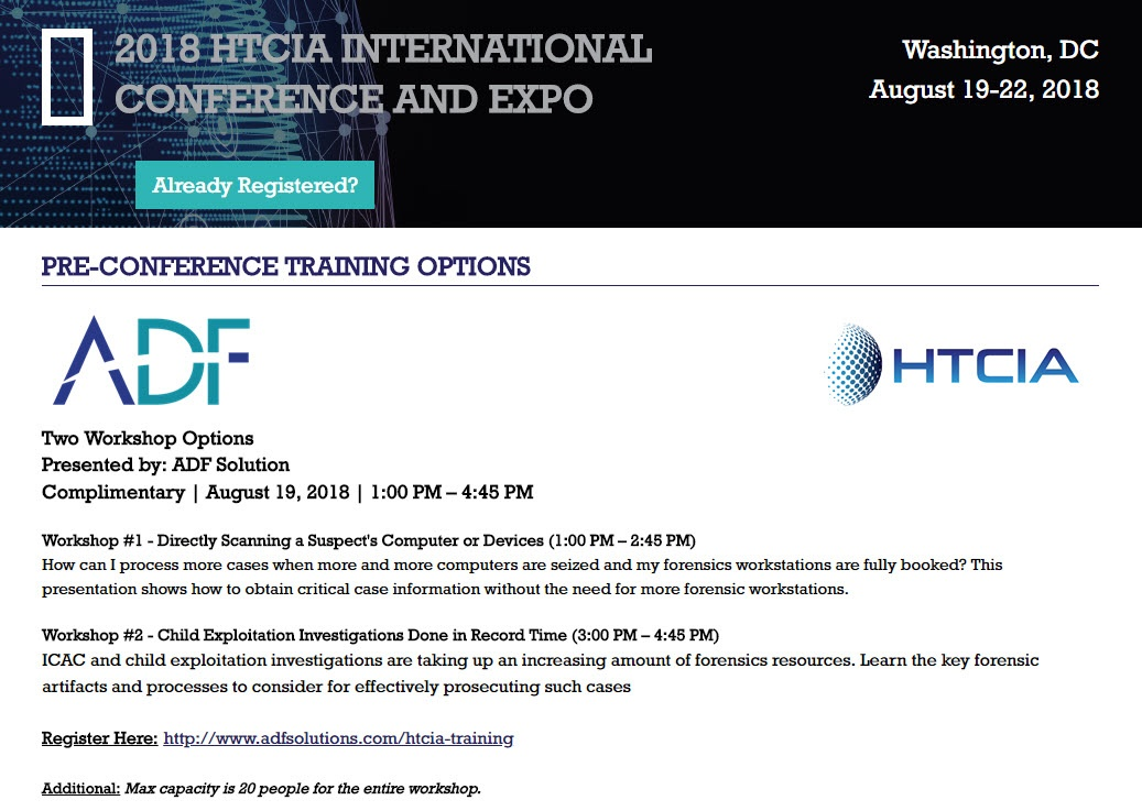 Attend HTCIA Pre-Conference Training