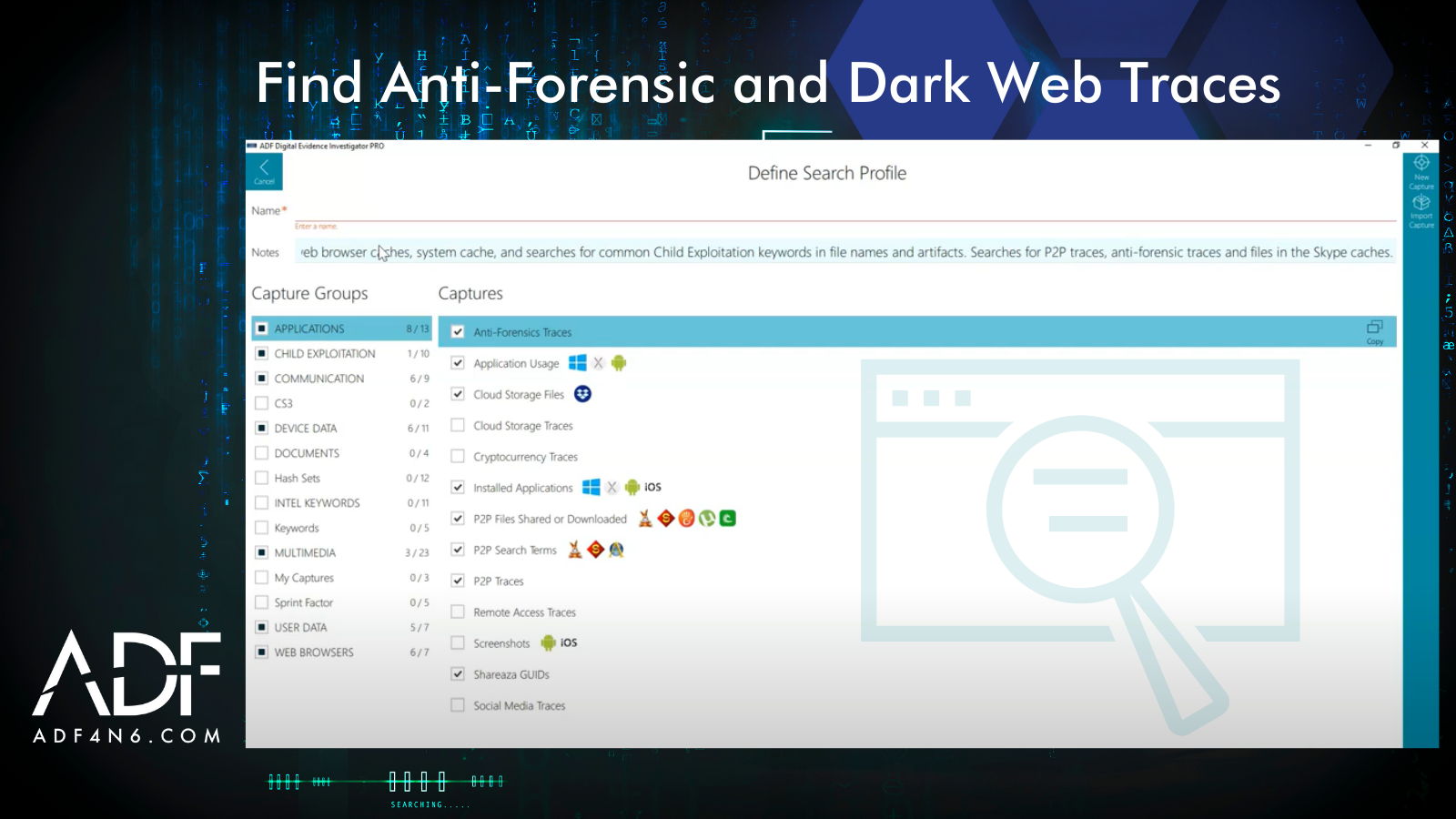 Find Anti-Forensic and Dark Web Traces with ADF Triage Software