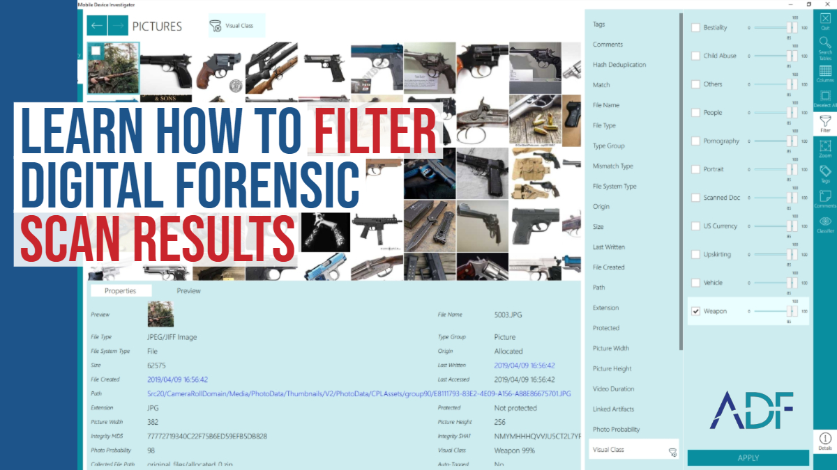 Learn How To Filter Digital Forensic Scan Results in ADF Software