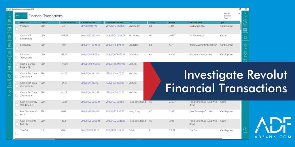 Investigate Financial Transactions in Revolut