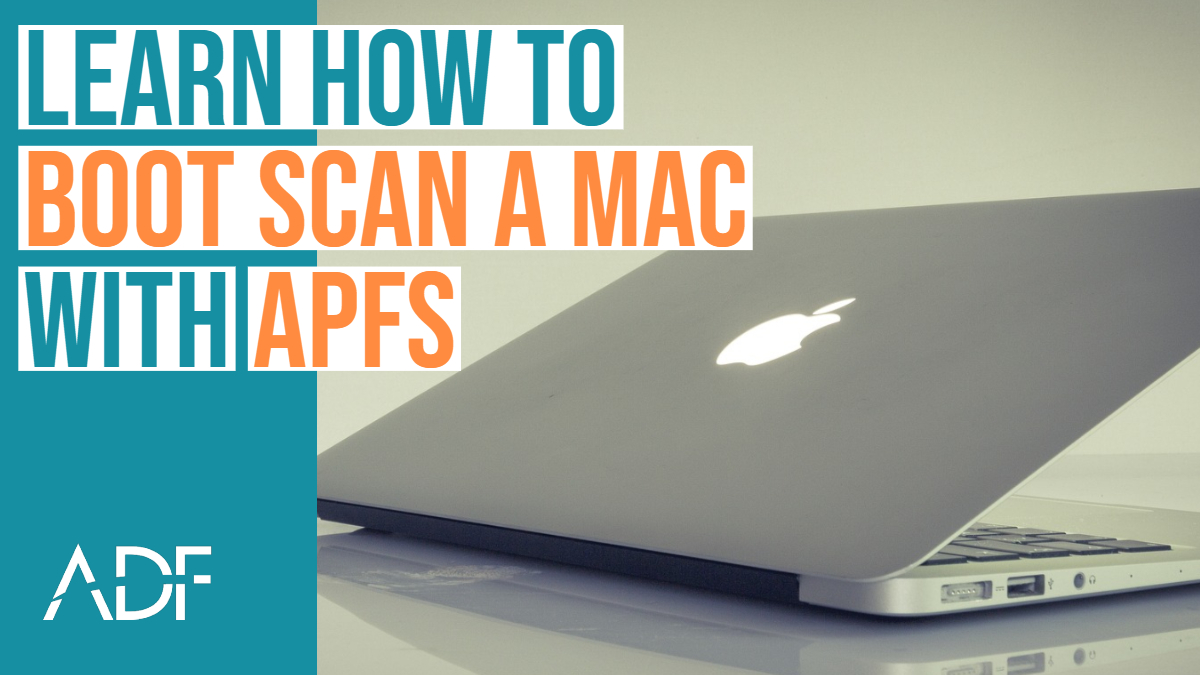 Digital Forensic Boot Scan a Mac with APFS