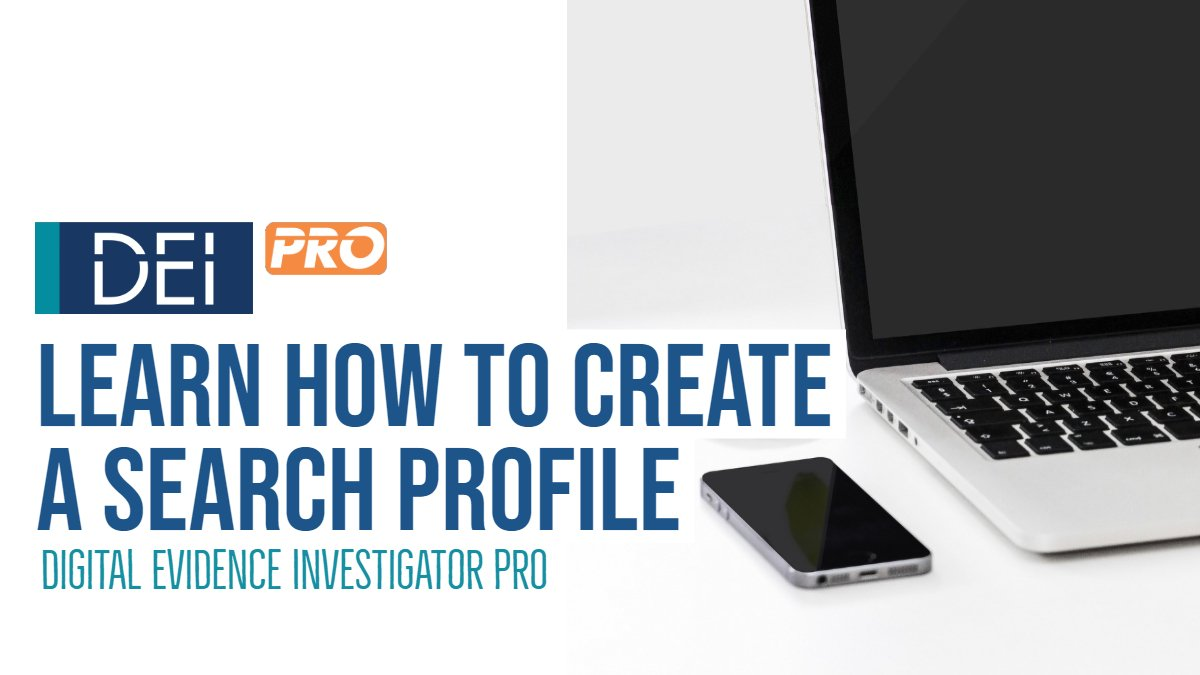 Creating a Search Profile in DEI PRO
