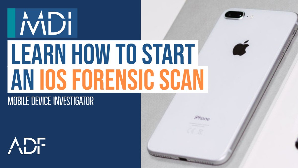Scan iOS Devices with Mobile Device Investigator
