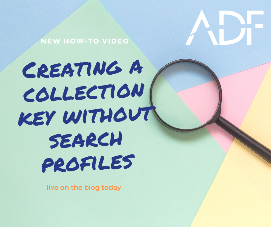 Creating a Collection Key without Search Profiles