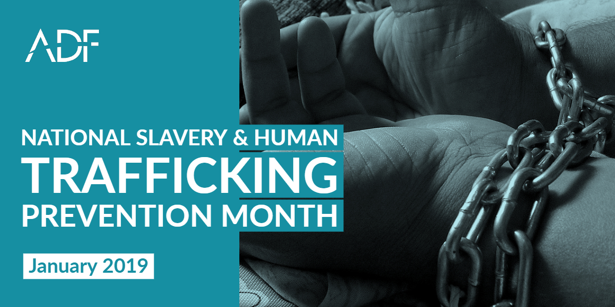 National Slavery and Human Trafficking Prevention Month