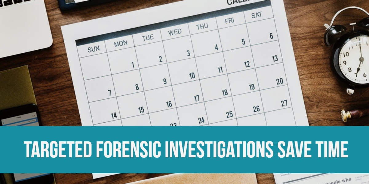 Targeted Forensic Examinations Save Time in Child Exploitation Cases